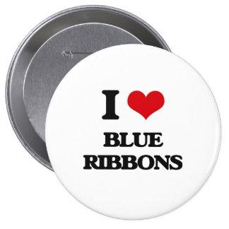 I Love Blue Ribbons 10 Cm Round Badge