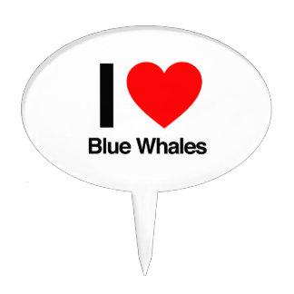 i love blue whales cake picks