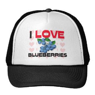 I Love Blueberries Mesh Hat