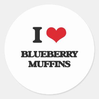 I love Blueberry Muffins Round Sticker