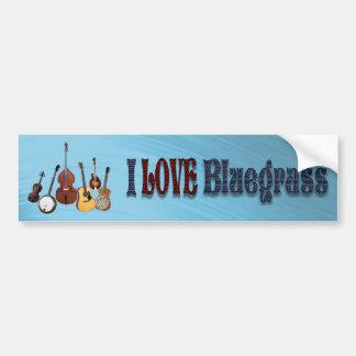I LOVE BLUEGRASS-BUMPER STICKER
