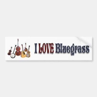 I LOVE BLUEGRASS-BUMPER STICKER BUMPER STICKER