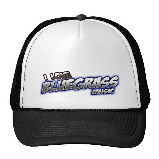 I Love BLUEGRASS Music Trucker Hat