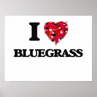 I Love Bluegrass Poster