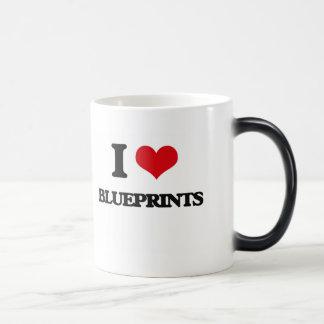 I Love Blueprints Coffee Mug