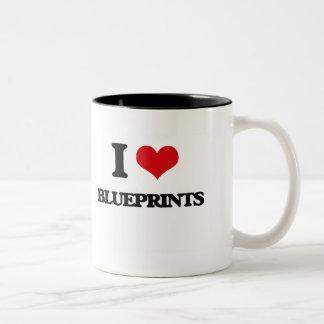 I Love Blueprints Mugs