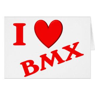 I Love BMX Greeting Card