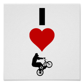 I Love BMX (Vertical) Poster