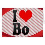 I love Bo Greeting Card