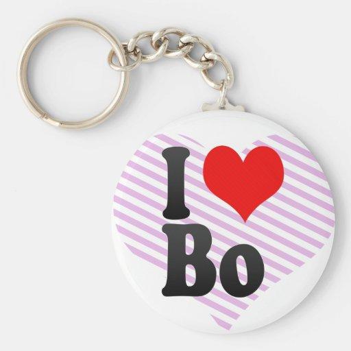 I love Bo Key Chain