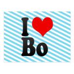 I love Bo Postcard