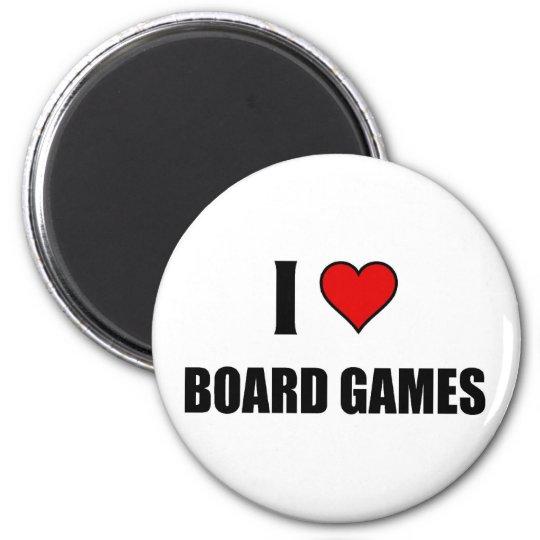 I love Board Games 6 Cm Round Magnet