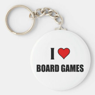 I love Board Games Basic Round Button Key Ring