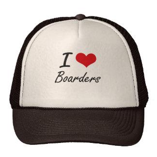 I Love Boarders Artistic Design Cap