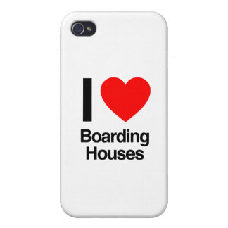 i love boarding houses iPhone 4/4S cases