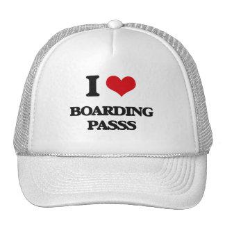 I Love Boarding Passs Trucker Hats
