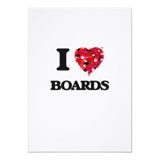 I Love Boards 13 Cm X 18 Cm Invitation Card