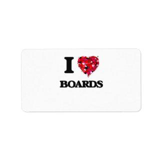 I Love Boards Address Label