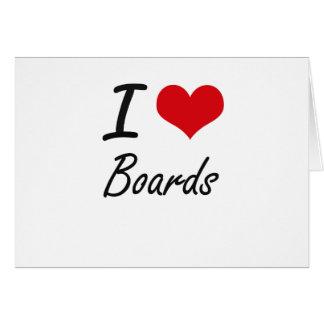 I Love Boards Artistic Design Note Card