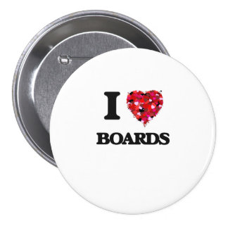 I Love Boards 7.5 Cm Round Badge