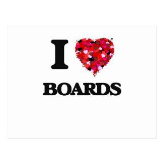 I Love Boards Postcard