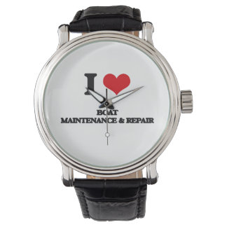 I Love Boat Maintenance & Repair Wristwatch