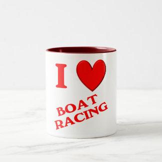 I Love Boat Racing Mug