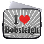 I love Bobsleigh Laptop Computer Sleeves