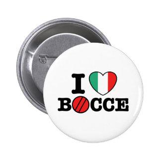 I Love Bocce 6 Cm Round Badge