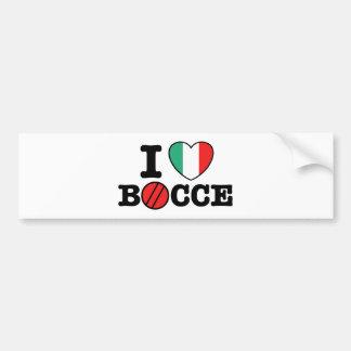 I Love Bocce Car Bumper Sticker