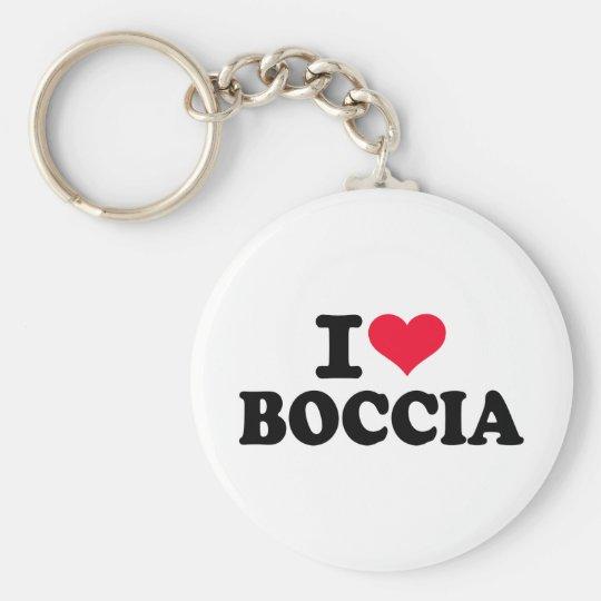 I love boccia basic round button key ring