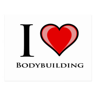 I Love Bodybuilding Postcard