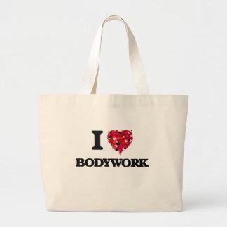 I Love Bodywork Jumbo Tote Bag
