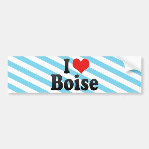 I Love Boise Bumper Stickers