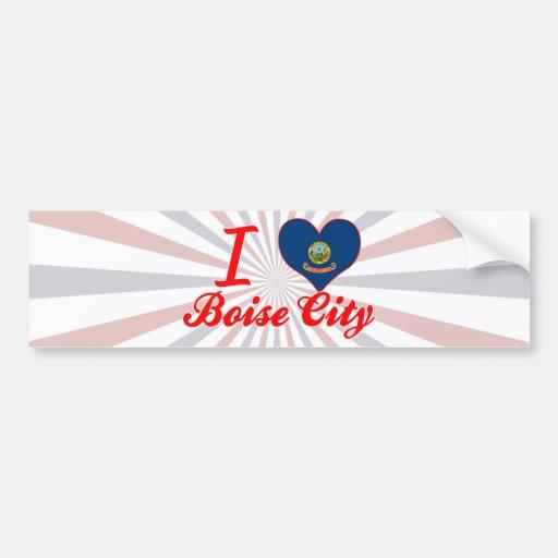 I Love Boise City, Idaho Bumper Stickers