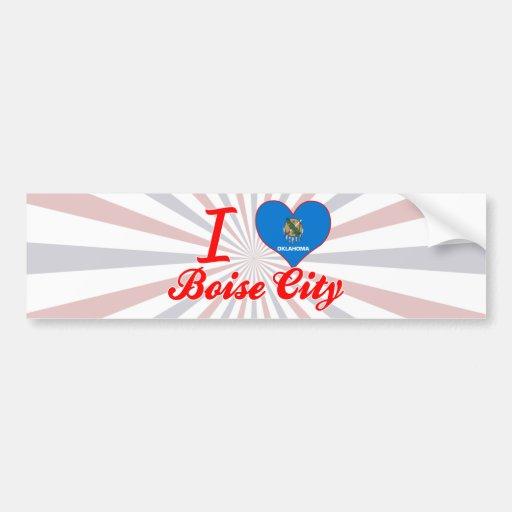 I Love Boise City, Oklahoma Bumper Stickers