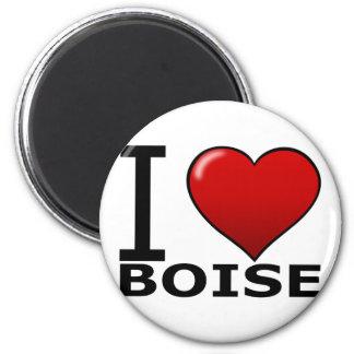 I LOVE BOISE,ID - IDAHO 6 CM ROUND MAGNET