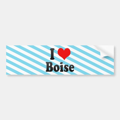 I Love Boise, United States Bumper Stickers