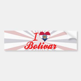 I Love Bolivar, Missouri Bumper Sticker