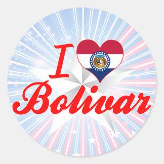 I Love Bolivar, Missouri Classic Round Sticker