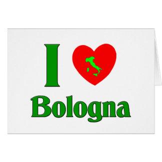 I Love Bologna Card