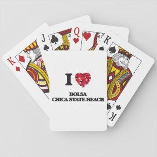 I love Bolsa Chica State Beach California Playing Cards