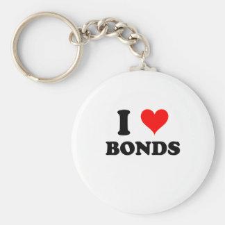 I Love Bonds Basic Round Button Key Ring