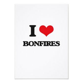 I Love Bonfires 13 Cm X 18 Cm Invitation Card
