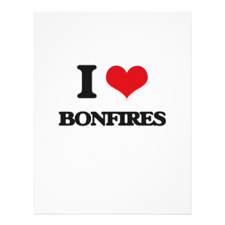 I Love Bonfires 21.5 Cm X 28 Cm Flyer