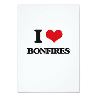 I Love Bonfires 9 Cm X 13 Cm Invitation Card