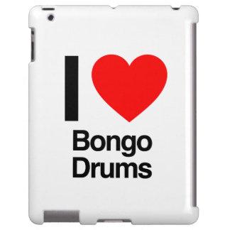 i love bongo drums iPad case