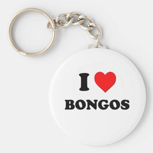 I Love Bongos Key Chain