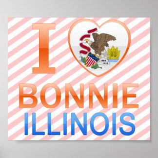 I Love Bonnie, IL Print