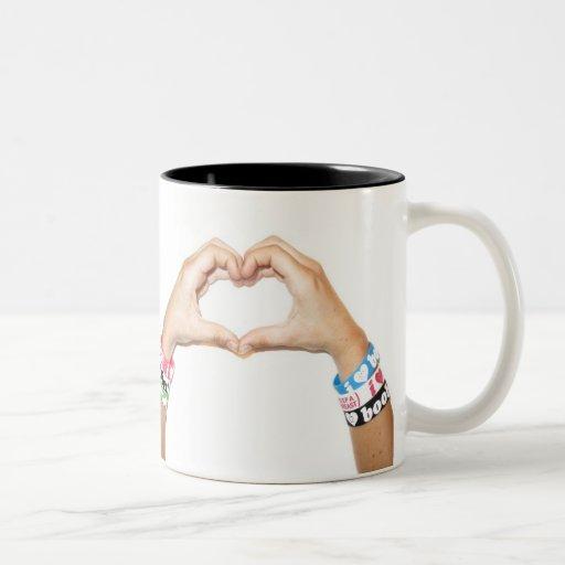 "i love boobies! ""Hand Heart"" Mug"
